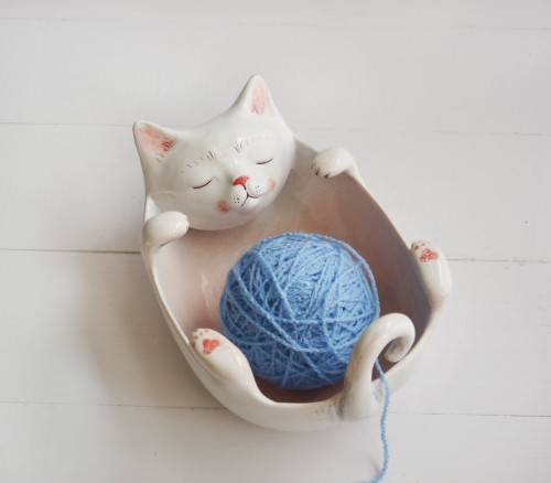 Kotek miska, yarn bowl